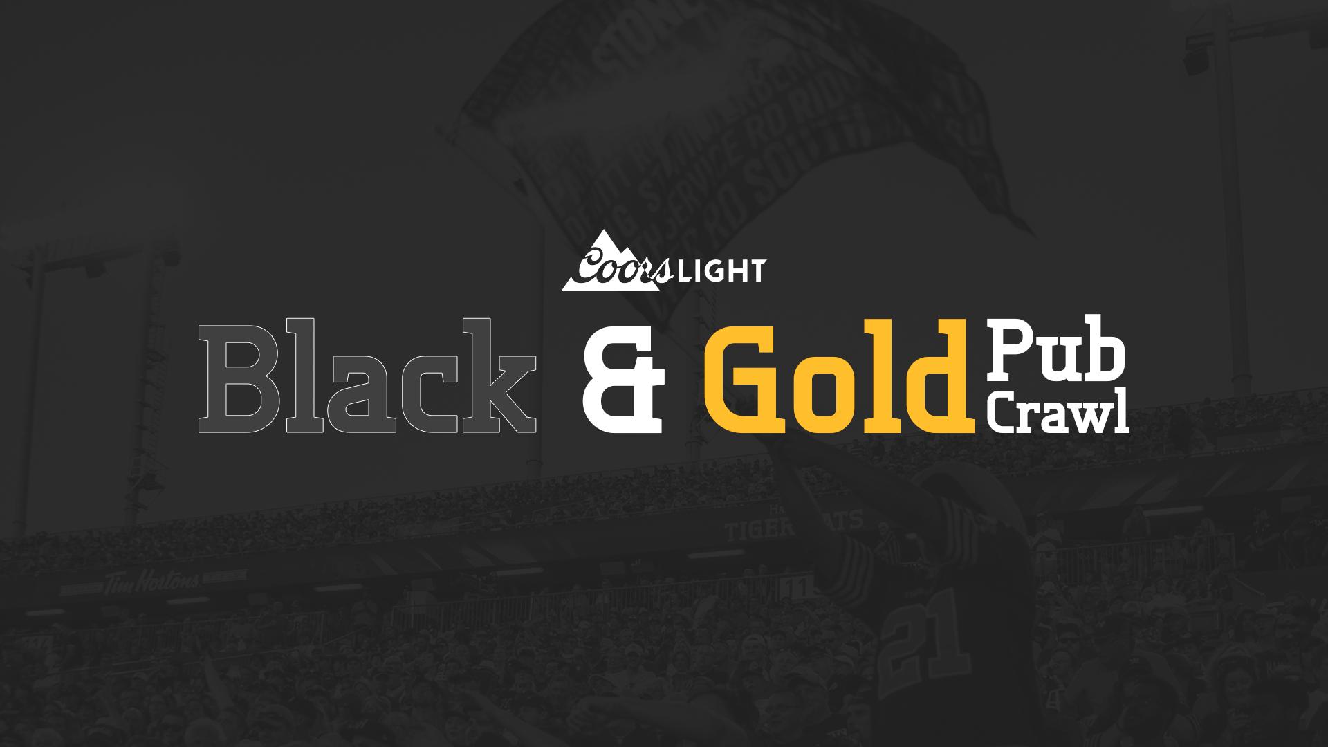 Black & Gold Pubcrawl Title Card